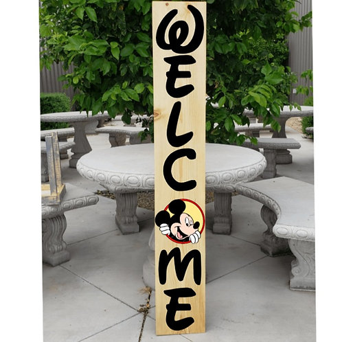 DIY: Mickey welcome porch board (starting at $30.00)