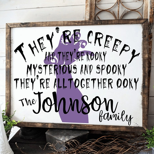 DIY: Personalized Addams Family Theme Song (Starting at  $35.00)