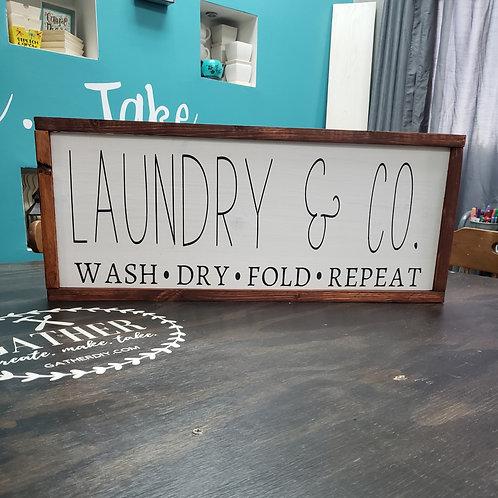 DIY: Laundry & Co. FarmhouseSign (12x24)