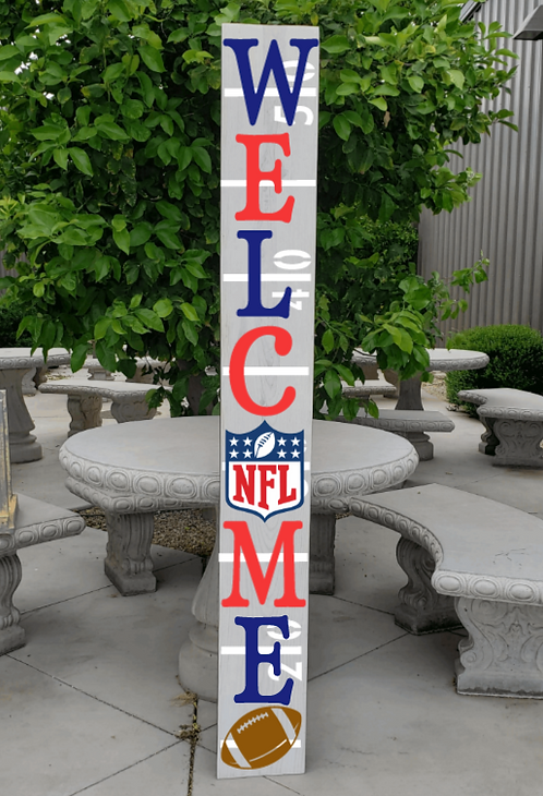 DIY: NFL Football Porch WELCOME (Starting at $30.00)