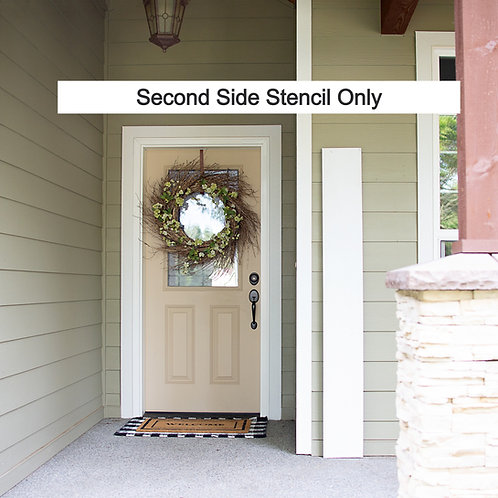 DIY SECOND SIDE STENCIL ONLY- Porch Signs (Starting at $15.00) Pick your designs