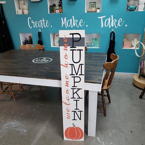 DIY: Hello Pumpkin Porch Board (Starting at $30.00)