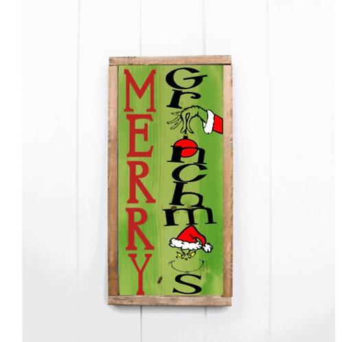 DIY: Merry Grinchmas 12x24
