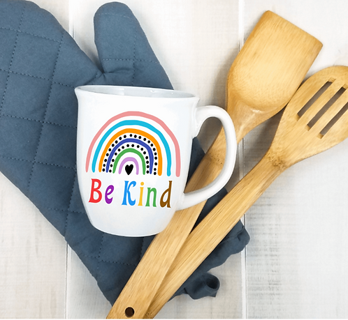 DIY: Be Kind White Mug (can be personalized) (Starting at $8.00)