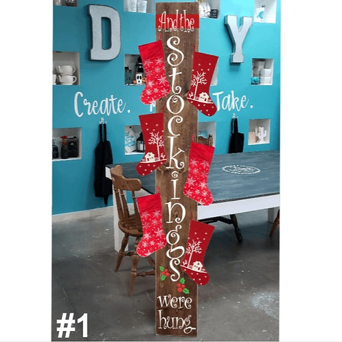 DIY: Stocking Holder (Personalization available) (starting at 40.00)