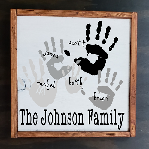 Hand Print Keepsake (Starting at $35.00)