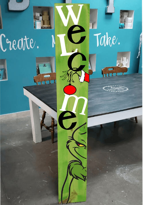 DIY: Grinch Welcome Porch Board (Starting at $30.00)