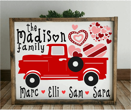DIY: Red Truck Family Hearts (Starting at $35.00)