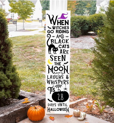 Ready Made: Countdown to Halloween Porch Board (Starting at $40.00)