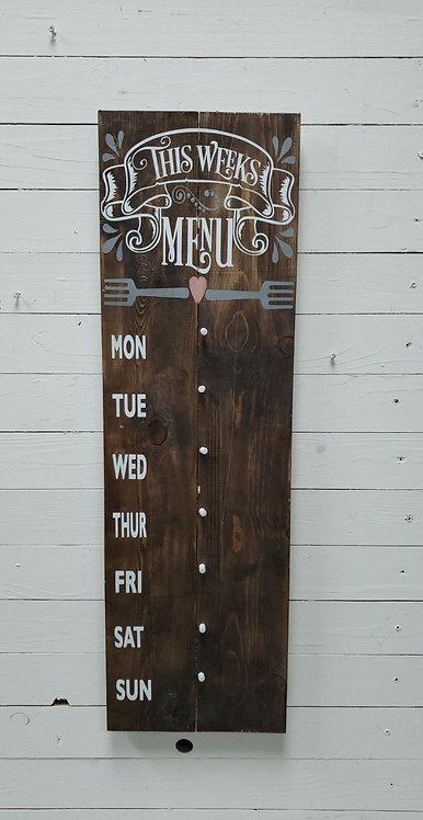 This Week's Menu Board