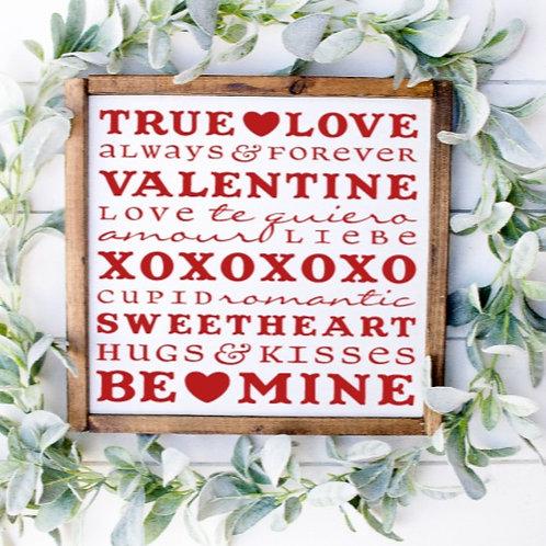 DIY: Valentine's Day Sayings (Starting at 25.00)