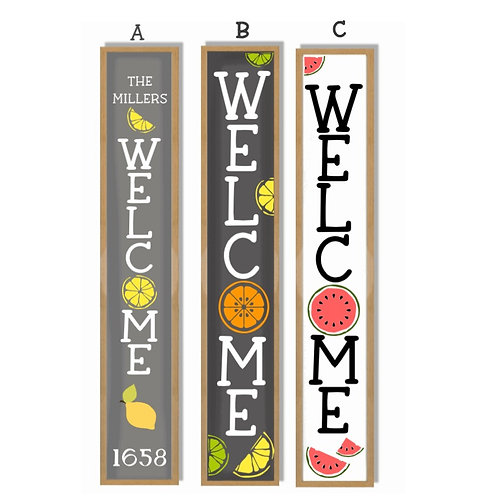 Welcome Fruit Themed Porch Boards (Starting at 40.00)