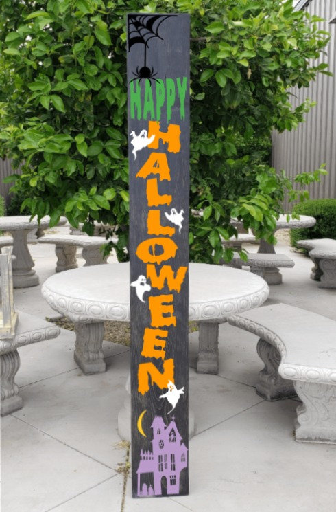 DIY: Happy Halloween Porch Board (Starting at $40.00)