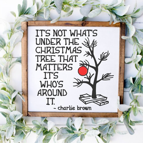 DIY: Charlie Brown Quote (Starting at $25.00)