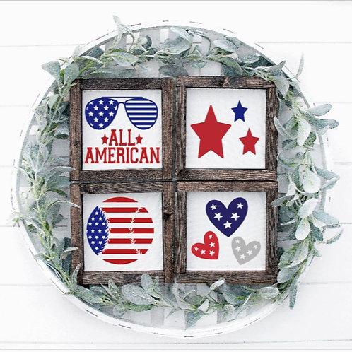Americana 4pc Mini Set (6x6 each)