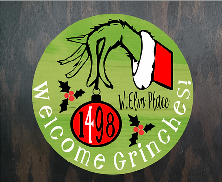DIY: Welcome Grinches! Door Round(Starting at $35.00)