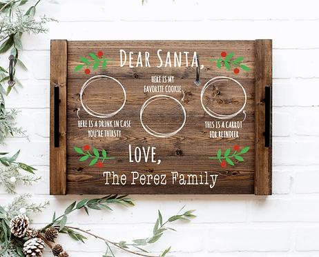 DIY: Cookies for Santa/Family serving tray.