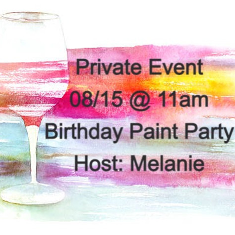 08/15 - Private Event - Birthday Party