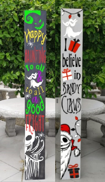DIY: LIMITED RELEASE DOUBLE SIDED - Halloween/Christmas (Starting at $60.00)