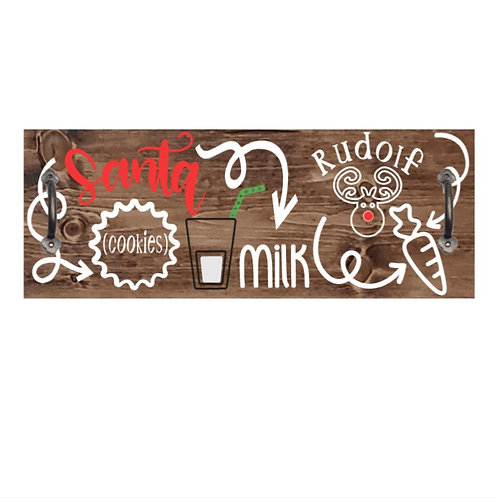 DIY: Santa Milk & Cookies Serving Tray (Medium size)