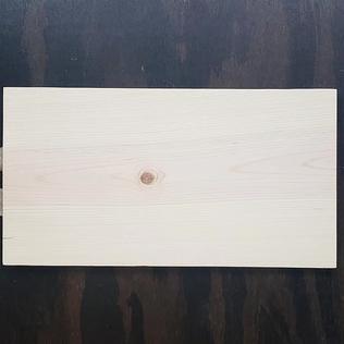 9.5x12 Raw Edge Wood