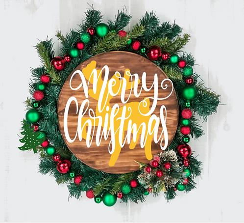 DIY: Merry Christmas Reindeer Round (Starting at $30.00)