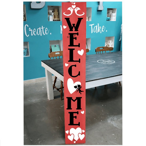 DIY: Welcome Cupid Porch Board (Starting at 30.00)