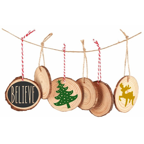 DIY: Ornament rounds (12 pc set - double sided project)