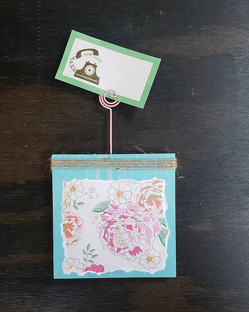 DIY: Square (double sided) single photo clip.