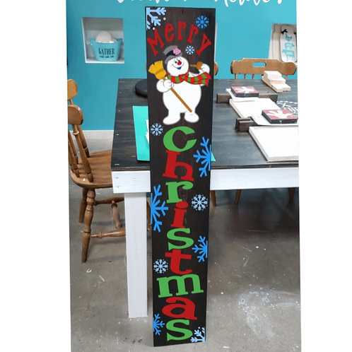 DIY: Frosty Porch Board (Starting at $30.00)
