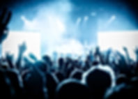 Concert menigte op live muziek festival
