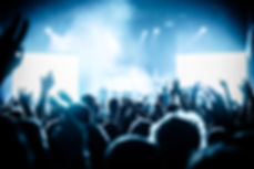 Concert crowd at live music festival