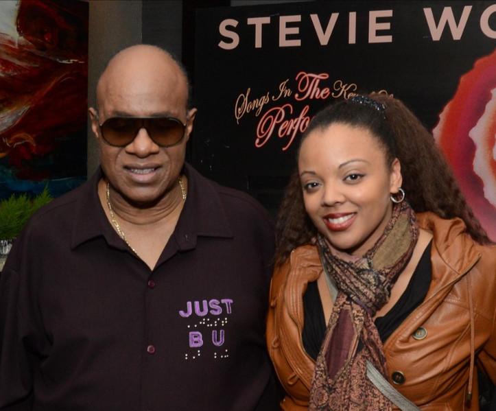 Krystle & Stevie Wonder