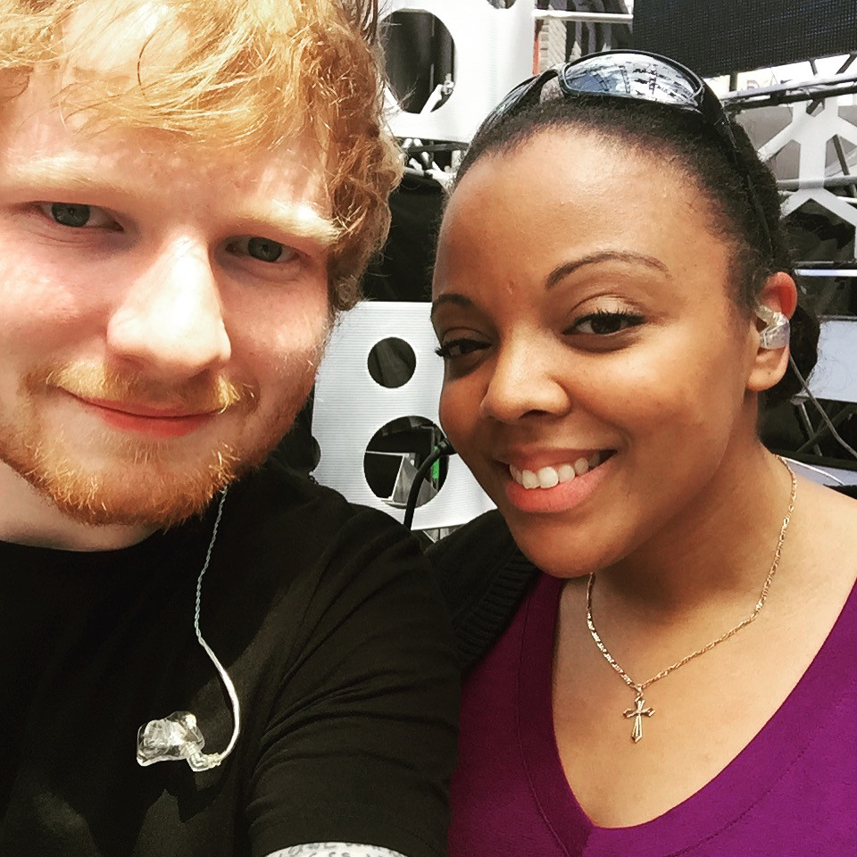 Krystle & Ed Sheeran at the Much Music Video Awards