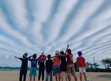 空がオーロラ