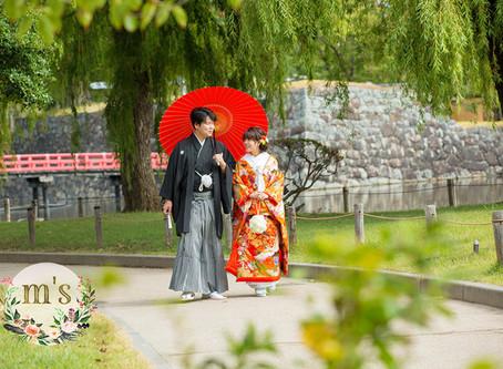 松本城でのウェディングフォト 和装前撮り