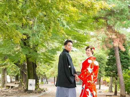 松本城での和装撮影