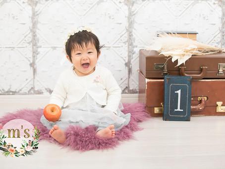 1歳の女の子のバースデー