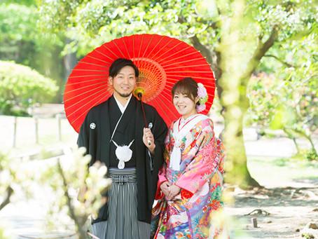 松本城とスタジオにて前撮り