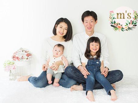 ご自宅での家族写真