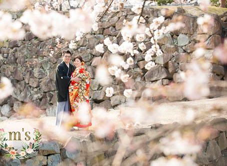 松本城での和装前撮り
