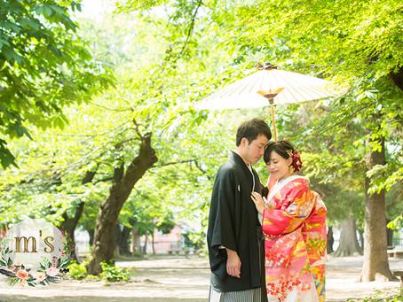 松本城での和装ウェディング前撮り