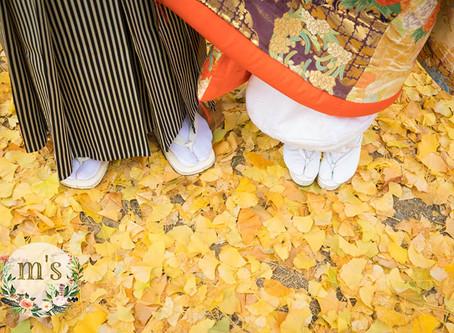 松本城にて結婚写真撮影