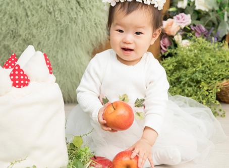 1歳の女の子バースデーフォト