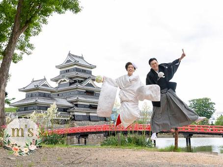 松本城での前撮り
