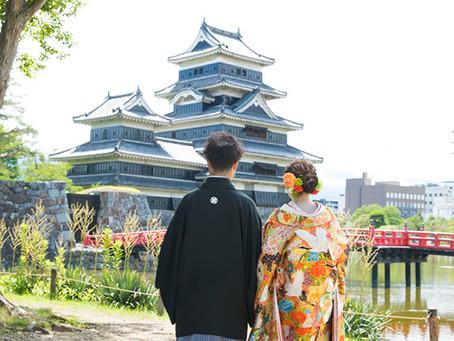 7月中旬、松本城とスタジオでの前撮り
