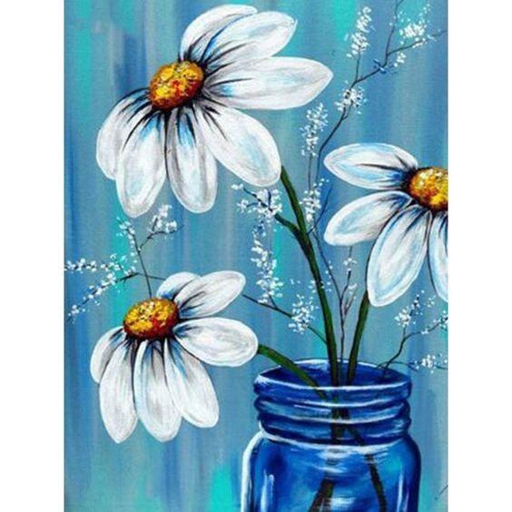 Adult Canvas Painting -Summer Daisy