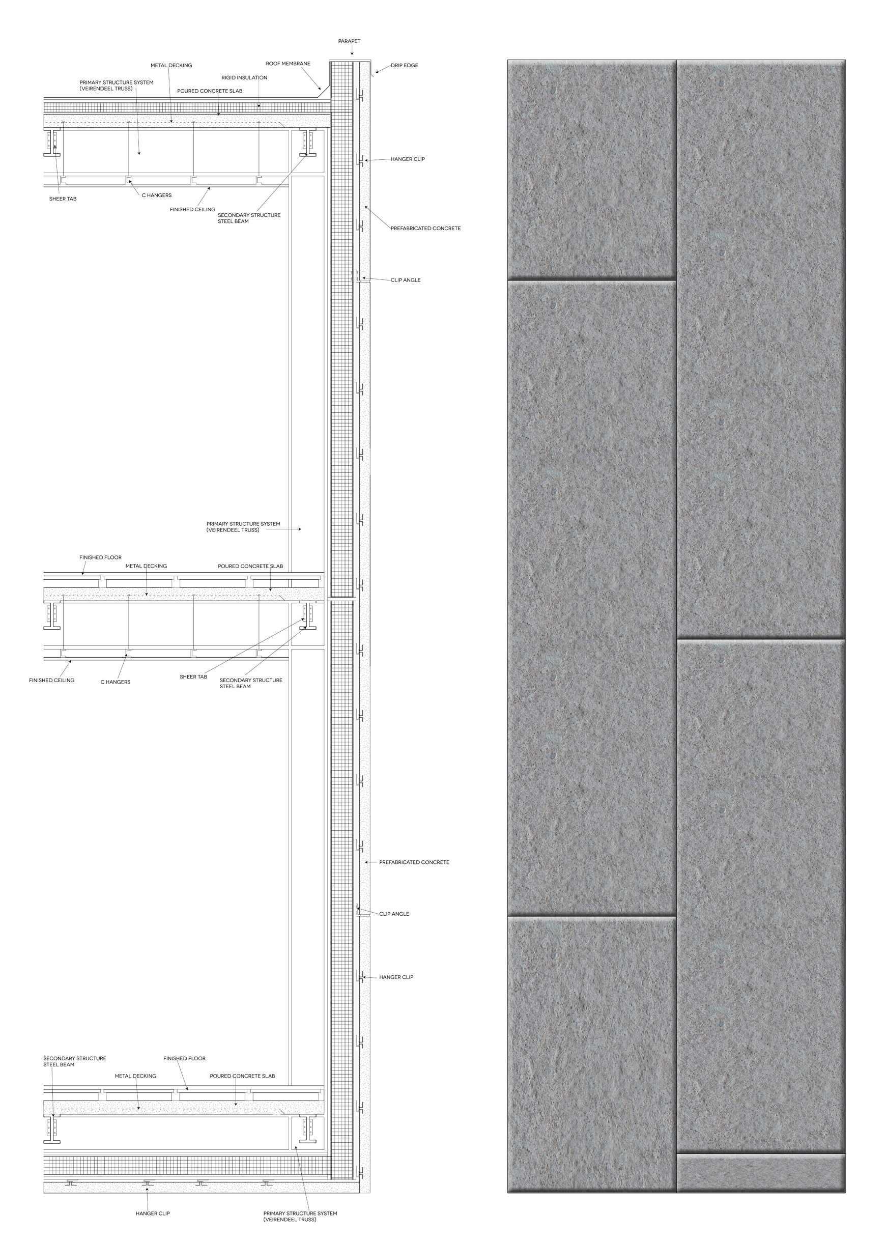 Concrete Panel Wall Section Detail