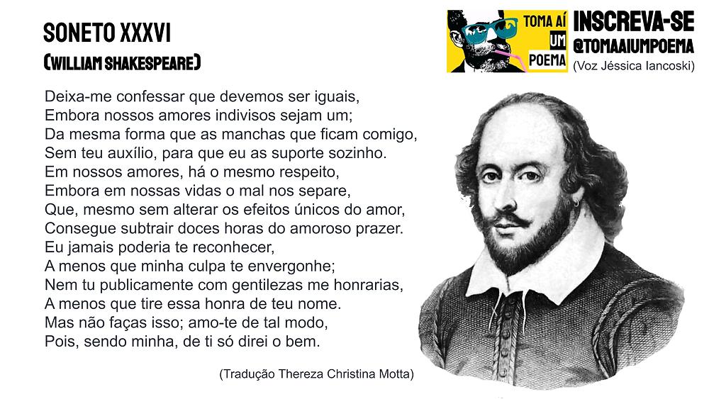 soneto xxxvi de shakespeare poesia