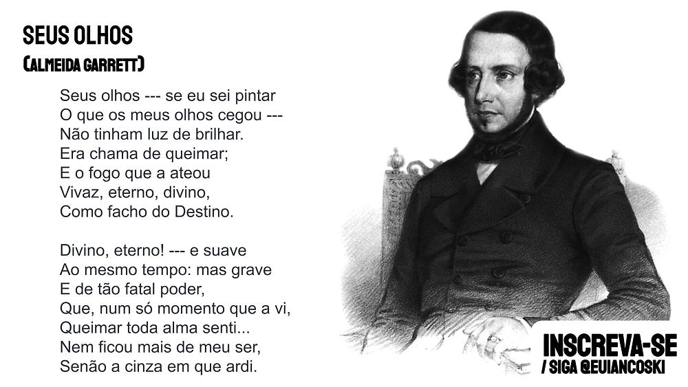 Poesia portuguesa poema seus olhos